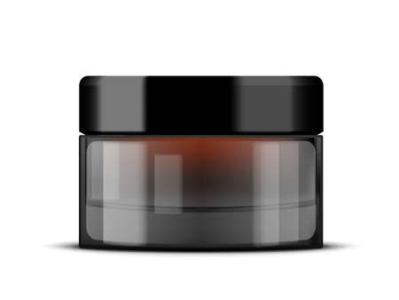 Brown Glass Cosmetic Cream Jar For Your Product