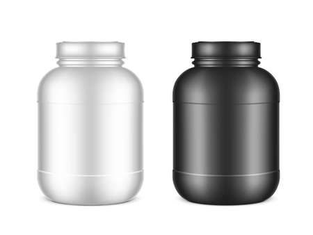 3D Plastic Jar With Lid For Protein Or Medical