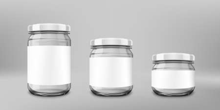 Small Glossy Glass Jar With White Lid