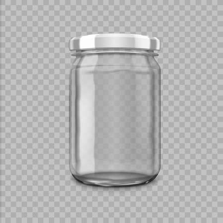 Small Glossy Glass Jar With White Lids