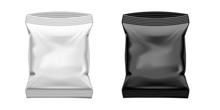 Slim Food Pillow Package Isolated On White