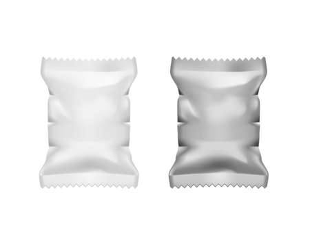 Realistic Food Pillow Package Isolated On White