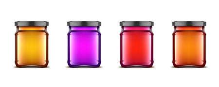 3D Ideal Transparent Glass Jar With Honey
