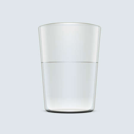 3D Glass Of Water On White Background Vettoriali