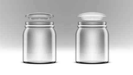 3D Close Transparent Swing Top Jar With Cookies