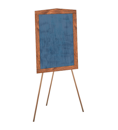 Presentation Easel Drawing Chalkboard, Isolated On White Background ...
