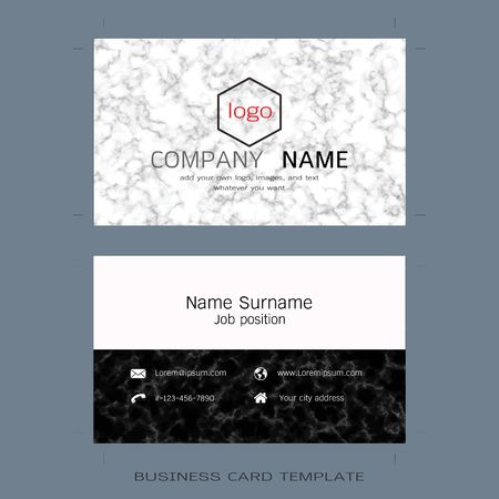 Modern designer business card layout templates marble texture modern designer business card layout templates marble texture background easy to use by print cheaphphosting Images