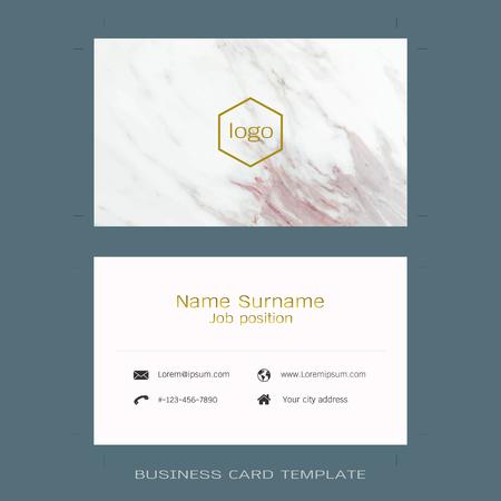 Modern Designer Business Card Layout Templates Marble Texture - Business card layout template
