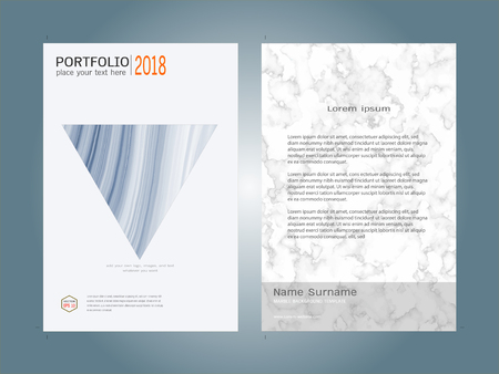 lay: Creative cover design layout template, Marble texture background, Inspiration for your design to brochure, annual report, flyer, magazine, poster, corporate presentation, portfolio, banner, website.