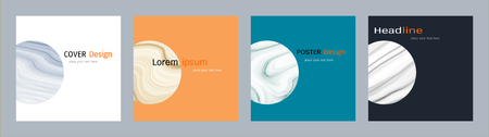 lay: Minimal covers design set, Trendy template inspiration for your design to brochure, annual report, flyer, magazine, poster, corporate presentation, portfolio, banner, website (Vector Illustration)