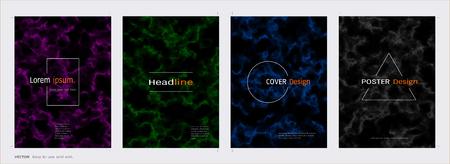 Minimal covers design set, Trendy template inspiration for your design to brochure, annual report, flyer, magazine, poster, corporate presentation, portfolio, banner, website (Vector Illustration)