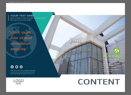 magazine design: Presentation layout design for real estate cover page template, Abstract vector modern background to brochure, annual report, flyer.