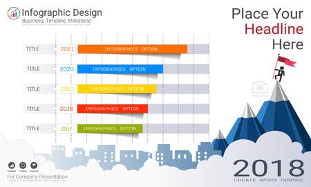 Gráfico de barras de negocios plantilla de infografía.