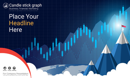 Abstract financial trading graph with candlestick chart, Business analytics and Forex stock market investment trading.