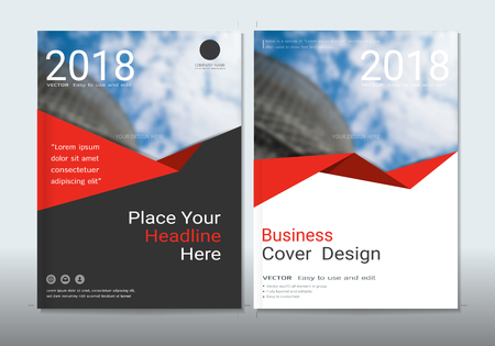 Corporate business cover book design template with blurred background gradient mesh for make an image of the products your company (Blurred photo for an example)