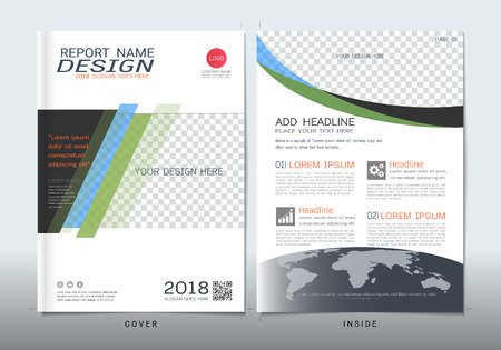 Covers design with space for photo background. Can be adapt to annual report, brochure, flyer, leaflet, fact sheet, sale kit, catalog, magazine, booklet, portfolio, poster. Vector template in A4 size.