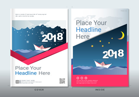 Covers design with space for photo background, Can be adapt to annual report, brochure, flyer, leaflet, fact sheet, sale kit, catalog, magazine, booklet, portfolio, poster, Vector template in A4 size. Vectores