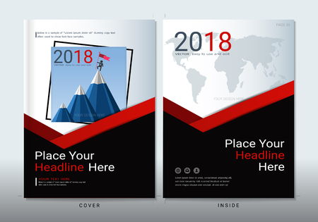 Covers design with space for photo background, Can be adapt to annual report, brochure, flyer, leaflet, fact sheet, sale kit, catalog, magazine, booklet, portfolio, poster, Vector template in A4 size. Stock Illustratie