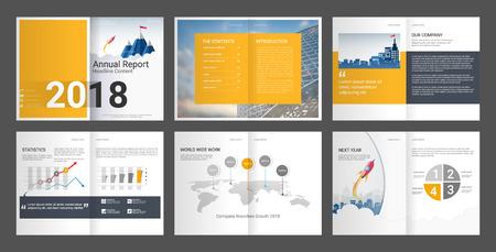 Annual Report, Company Profile, Agency Brochure. Multipurpose presentation template