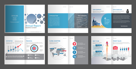 Annual Report, Company Profile, Agency Brochure, Multipurpose presentation template