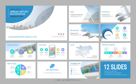인포 그래픽 요소가있는 프리젠 테이션 템플릿, 디자인은 모든 스타일을 다루고 공식 및 비즈니스 프리젠 테이션, 전단지 및 전단지, 기업 보고서, 마케팅, 광고, 연례 보고서에 독창적입니다. 스톡 콘텐츠 - 95913994