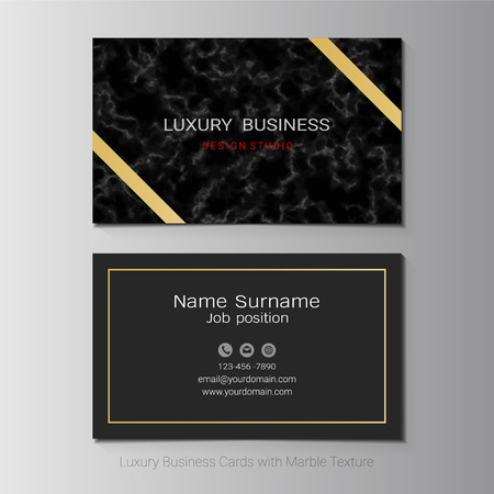 Luxury business cards vector template, Simple style also modern and elegant with marbling texture imitation background, It's fully layered and editable, Easy to customize it to fit your needs. Stock Illustratie