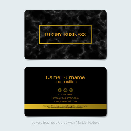 Luxury business cards vector template, Simple style also modern and elegant with marbling texture imitation background, It's fully layered and editable, Easy to customize it to fit your needs. Иллюстрация