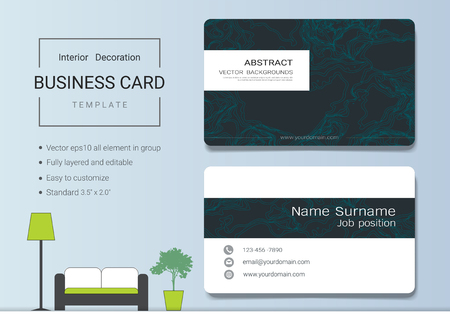 Business card or name card template for interior designer modern business card or name card template for interior designer modern and elegant style with marbling reheart Gallery