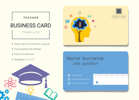 Teacher business card or name card template simple style also teacher business card or name card template simple style also royalty free cliparts vectors and stock illustration image 95967344 accmission Gallery