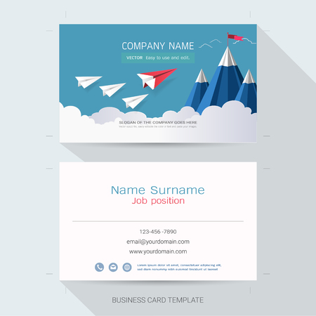 Name card or business card design templatethe style is simple name card or business card design templatethe style is simple also modern and colourmoves