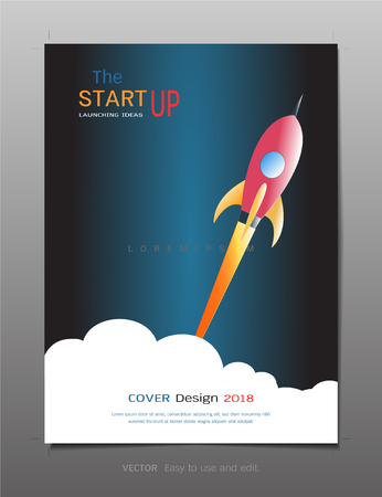 Covers design template, Inspiration for business startup concept, Use for your design all media, Easy to use and edit by add your own logo, images, and text, whatever you want.