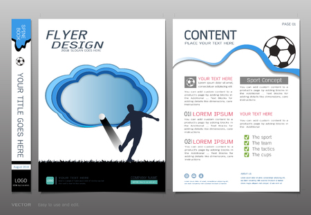 Covers book design template vector, Sport football club concept, Can be adapt to annual report, and more.