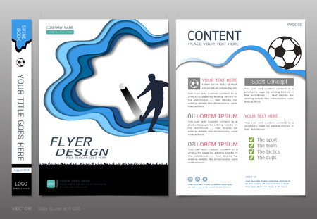 Covers book design template vector, Sport football club concept, Can be adapt to annual report, brochure, and more.