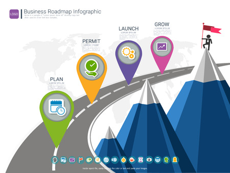 Roadmap Timeline Infographic Design Template Key Success And - Roadmap timeline template