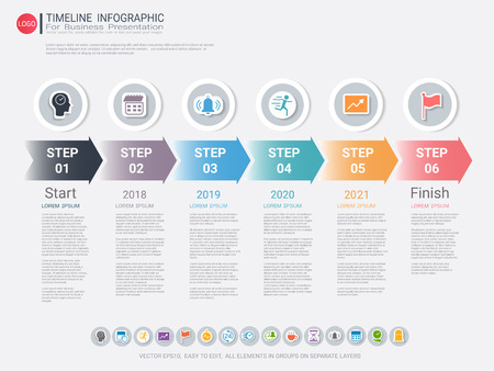 Milestone timeline infographic design, Road map or strategic plan to define company values, Can be used milestones for scheduling in project management to mark specific points along a project timeline