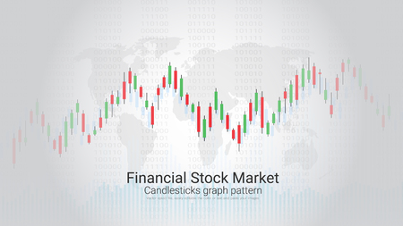 Financial stock market vector template design. Royalty free.