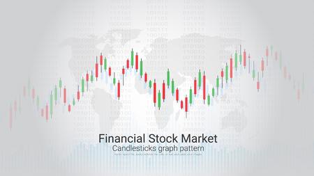 Financial stock market vector template design. Illustration