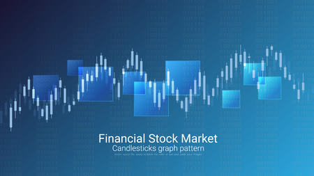 Financial stock market vector template design. Ilustrace