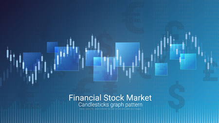 Forex stock market investment trading concept, Candlestick pattern with bullish and bearish is a style of financial chart, Suitable for describe price movements of a security, derivative, or currency.