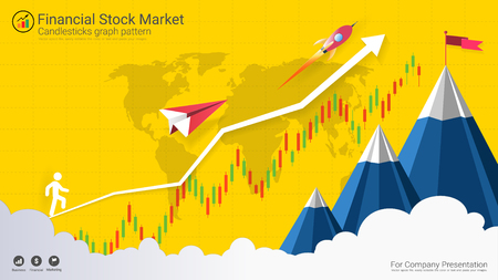 Forex stock market investment trading concept, Candlestick pattern with bullish and bearish is a style of financial chart. Suitable for describe price movements of a security, derivative, or currency.