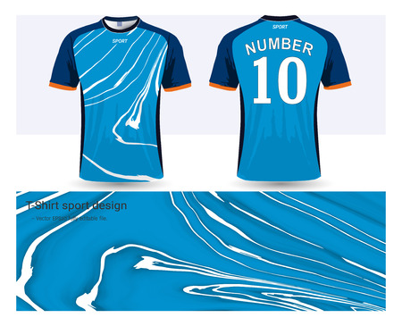 Soccer jersey and t-shirt sport mock-up template