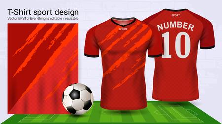 Modello di mockup sportivo maglia e t-shirt calcio