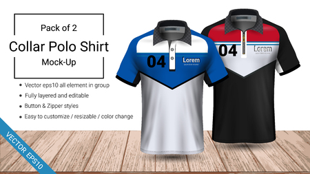 Polo collar t-shirt template, fully layered and editable prepared to showcase the custom design, by simply editinng the object and color, perfect for your team, or any occasion.