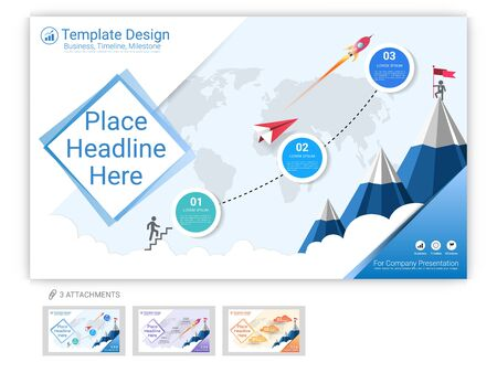 Website template vector set for web page design or company presentation, Easy to edit Imagens - 126716734