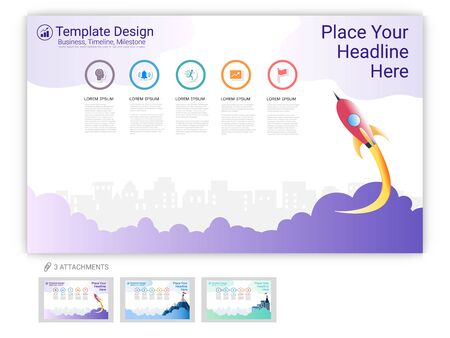 Website template vector set for web page design or company presentation, Easy to edit Imagens - 126716736