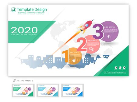 Website template vector set for web page design or company presentation, Easy to edit