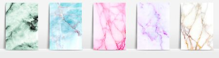 Marble collection abstract pattern texture color background. Imagens