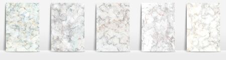 Marble collection abstract pattern texture white cream background.