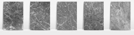 Marble collection abstract pattern texture white cream background. Imagens - 127649782