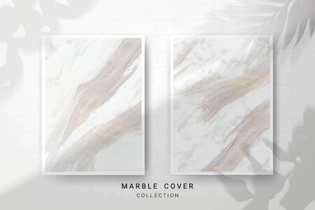 Marble Texture, Cover Premium Set of Vector Patterns Collection, Abstract Background Template, Suitable for Wedding and Greeting Invitation Card Imagens - 127649892